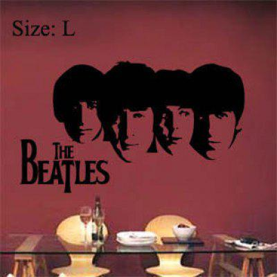 L Size Fashion Beatles Pattern PVC Wall Sticker TV Background Home Decor