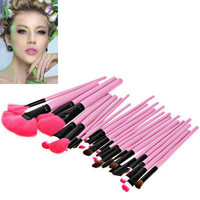Fashion 24PCS Pink Soft Nylon Hair Make-up Brushes with Leather Bag