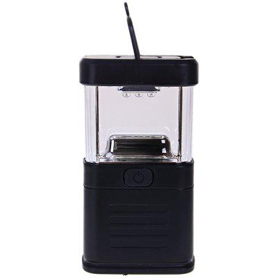 New 11 LED Bivouac Camping Lantern Light Lamp Tent Fishing Torch with Drawbar - Black