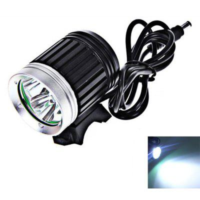 K3-C 3 x Cree XM-L T6 LED 4 Modes Bicycle Light and Headlight (4 x 18650 Battery, 1200 Lumens)
