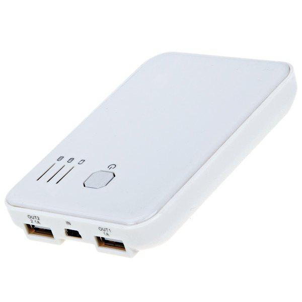 5000mAh Mobile External Power for Cell Phones and Digital Devices ( White )