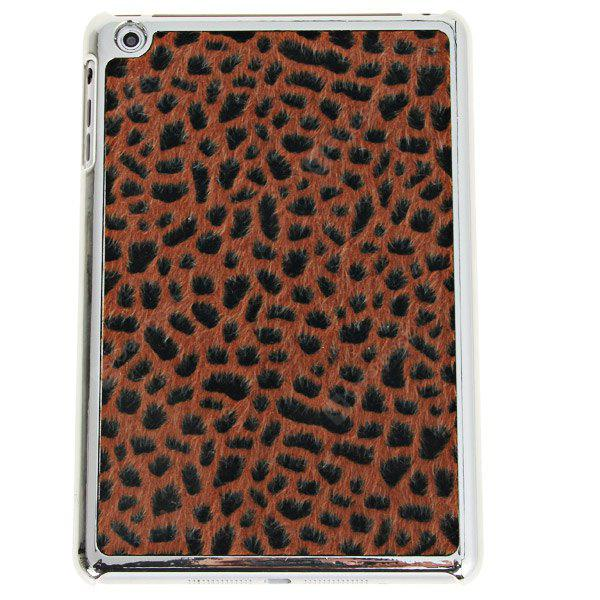 Fashion Leopard Style Electroplating Plastic Shell Case for iPad Mini