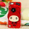 Cool Cartoon Style Diamonds Clear Plastic Shell Case for iPhone 5 with Mirror - RED