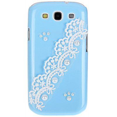 Artificial Pearl Plastic Hard Shell Case with Lace Design for Samsung Galaxy S3 i9300