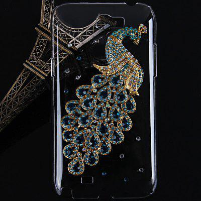 Peacock Diamonds Style Plastic Case for Samsung Galaxy Note 2 N7100