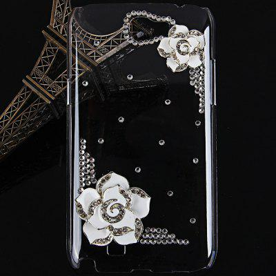 Hawthorn Flower Diamonds Plastic Case for Samsung Galaxy Note 2 N7100