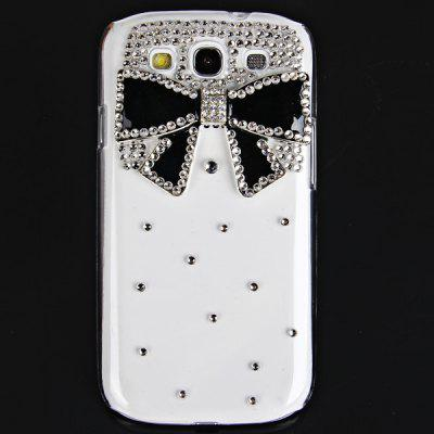 Bowknot Diamonds Style Plastic Case for Samsung Galaxy S3 i9300