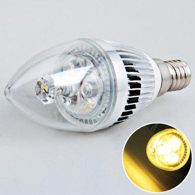 E14 3W AC180V - 240V Warm White Candle Ball Bulb