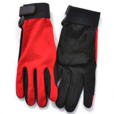 Unisex XL Size Outdoor Non-slip Riding Gloves Breathable Climbing Gloves for Summer Outdoor Activity - Red