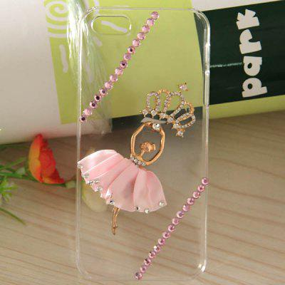 3D Queen Pattern Transparent Hard Protective Shell Case for iPhone 5