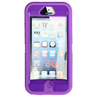 Multifunction Splash Proof Protective Silicone Plastic Case for iPhone 5 - Purple