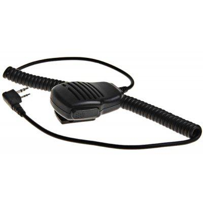 Good Quality No Lamp Universal Shoulder Speak Mic for Walkie Talkie with Clip (Black)