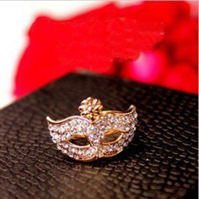 Rhinestone Mask Shape Ring