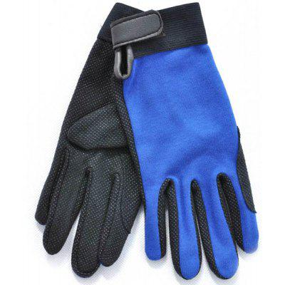 M Size Outdoor Non-slip Riding Gloves Breathable Climbing Gloves for Summer Outdoor Activity - Royal Blue