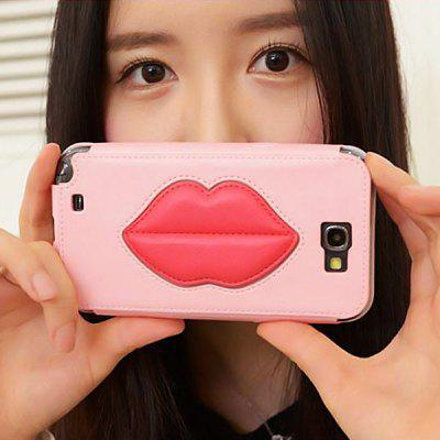 8thdays Monroe's Kiss PU Leather Vertical Case for Samsung N7100
