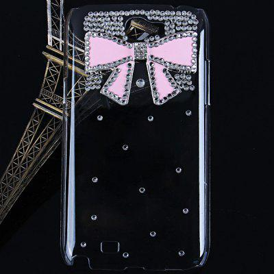 Bowknot Diamonds Style Plastic Case for Samsung Galaxy Note 2 N7100