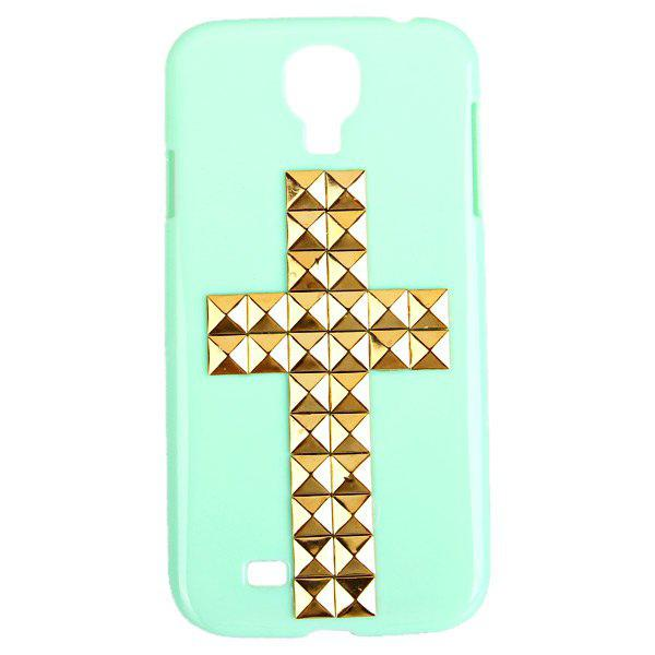 Cross Rivets Studs Plastic Case for Samsung Galaxy S4 i9500 / i9505
