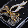 Ribbon Diamonds Plastic Case for Samsung Galaxy Note 2 N7100 - WHITE