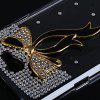 Ribbon Diamonds Plastic Case for Samsung Galaxy Note 2 N7100 - BLACK