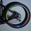 24PCS/3 Sheets Brand New Bicycle Wheel Reflective Stickers Bike Wheel Safe Accessories (Red, Yellow, Blue)