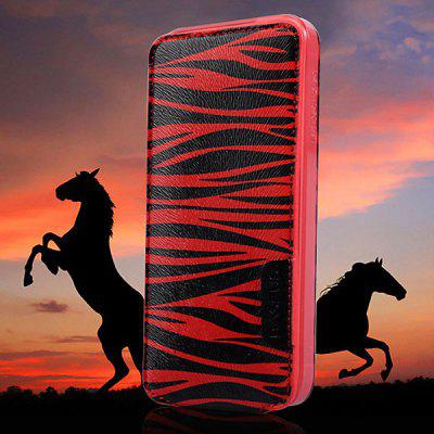 Baseus Vertical Flip Cool Wild Forest Zebra - stripe Style Soft TPU and PU Leather Cover Case for iPhone 5