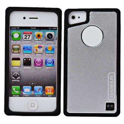 Baseus Popular Style Flexible Silicone and Soft - metal Shell Case for iPhone 4 / 4S