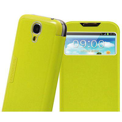 Baseus Cool Brushed Call ID View PU Leather and Plastic Cover Case for B9500 - Green
