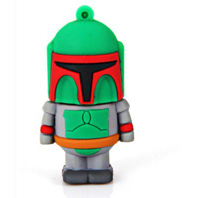 8GB Fashionable Cartoon Styles Silicon USB2.0 Flash Drive Memory U Disk (Green)