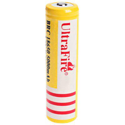 UltraFire 18650 High Capacity 3.7V 5000mAh Li - ion Rechargeable Battery - 1 - Pack, Yellow, without Protection Board ultrafire 18650 3 7v 1500mah rechargeable li ion batteries for flashlight white black 2 pcs
