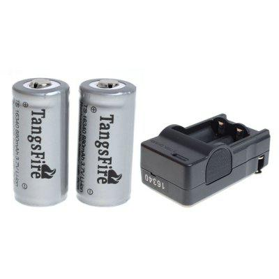 TangsFire 16340 Rechargeable Battery 3.7V 880mAh Li - ion with Protection Board