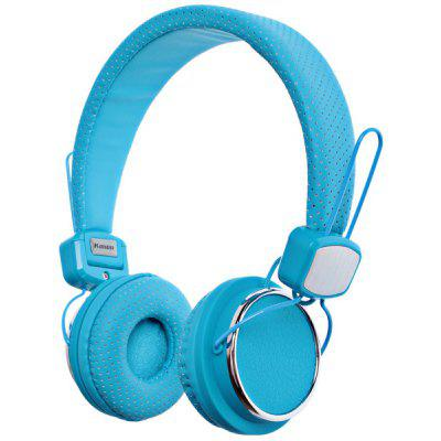 Kanen Fashion Design IP-850 Studio Lightweight Headphones for iPhone/iPod/iPad, Support Incoming Call Function (Blue)