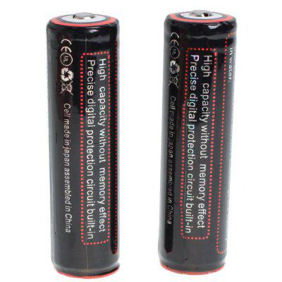 TangsFire 18650 3.7V 2900mAh Li-ion Rechargeable Battery with Charger - 2-Pack, Black, with Protection Board