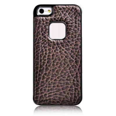 Baseus Cool Tribe Series Elephant Texture Pattern Electroplating Artificial Leather and Plastic Hard Shell Case for iPhone 5
