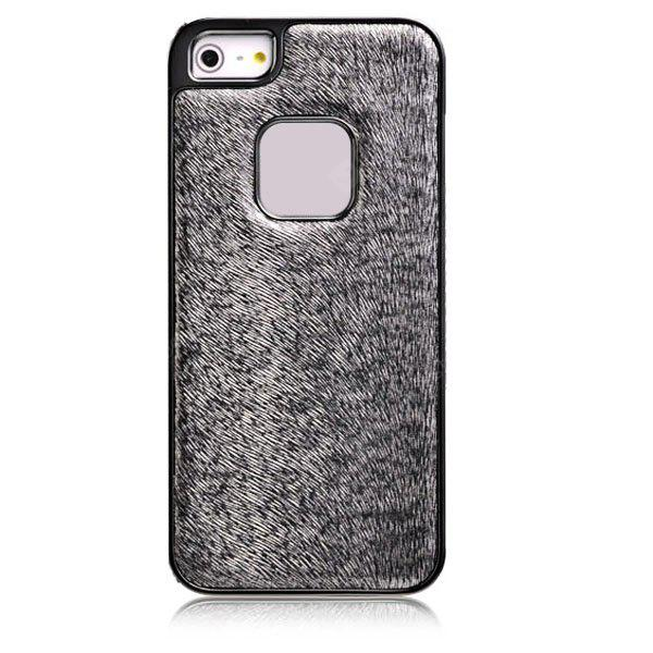 Baseus Cool Tribe Series Leopard Texture Pattern Electroplating Artificial Leather and Plastic Hard Shell Case for iPhone 5