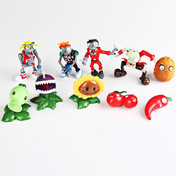 Nice Gift for Kids over 3 Zombie Sunflower Animation Character Model (10PCS)