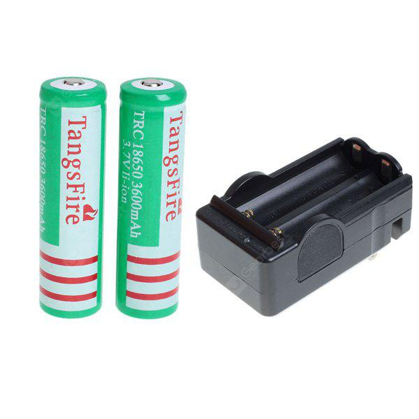 TangsFire 18650 Rechargeable Battery 3.7V 3600mAh Li - ion without Protection Board