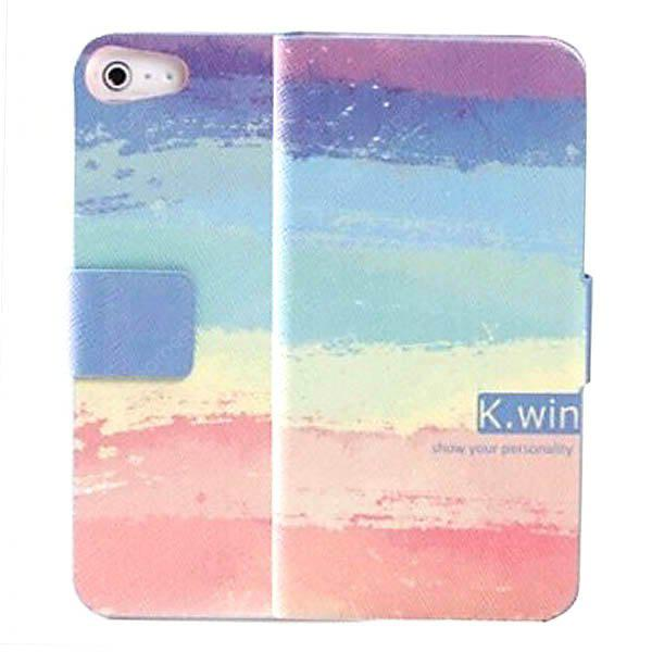 K.win Fashion Flip Wallet Style PC + PU Leather Colorful Case with Card Holder for iPhone 5