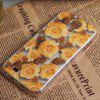 Dull Polish Rose Pattern Plastic Case for Samsung Galaxy S4 i9500 / i9505 - JAUNE