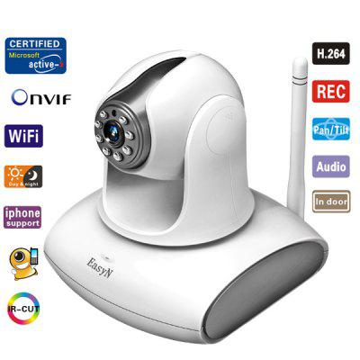 EasyN H3 - 137V CMOS 1.0MP 3.6mm Lens IR Night Vision Wireless IP Camera Cam, Support iPhone and Android Phone Connecting (White)