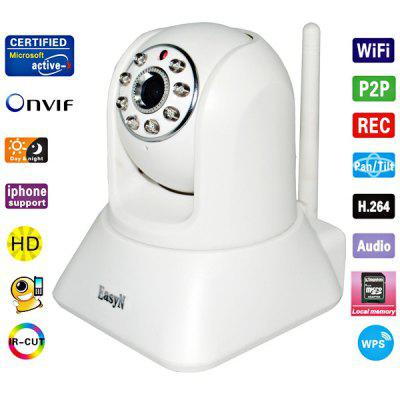 EasyN H3 - 187V CMOS 1.0MP 3.6mm Lens IR Night Vision Wireless IP Camera Cam, Support iPhone and Android Phone Connecting (White)