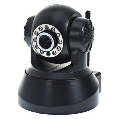 ESN-0510 1/4 CMOS Sensor 300,000 Pixel 3.6mm 10 IR LEDs Wireless IP Camera Cam with Night Vision Function - Black