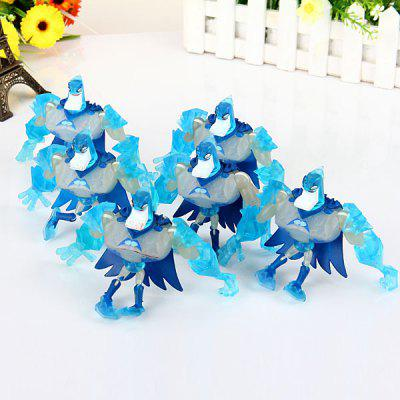 6pcs/lot Super Hero Batman 9CM Flexible Joints Figure Model Set  -  Blue