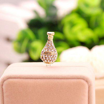 Characteristic Perfume Bottle Shape Design Women's Rhinestoned Alloy Pluggy