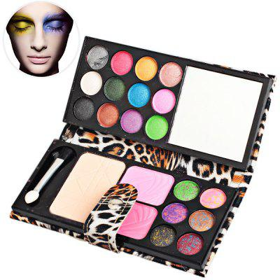 Makeup Box with 2 Blushers18 Colors Eye Shadows and Foundation