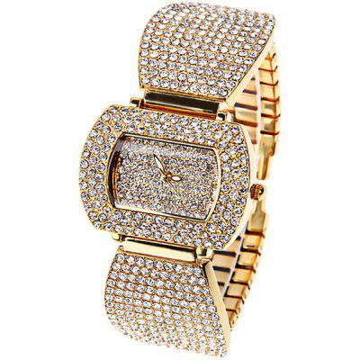 Tivaye Quartz Watch New Style Design Steel Watch Band for Women (Gold)