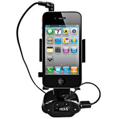 Windshield Car Universal Holder for iPhone 4/ iPhone 4S with MP3 Function (Black)
