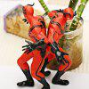 Set of 2pcs Highly Detailed American Heroes Character Model Toy Set  -  Red - RED