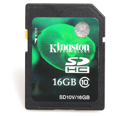 16GB Kingston High Quality Aseismatic Class10 SD/SDHC Memory Card - Black