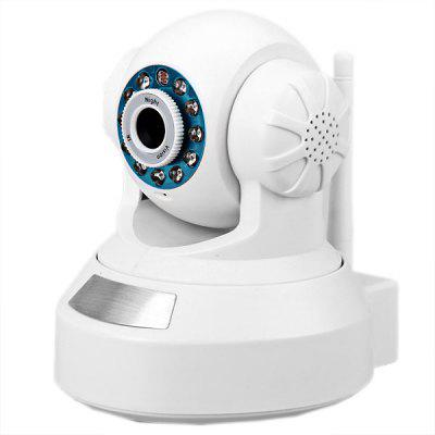 300,000 Pixel High Resolution Night Vision Network IP Camera 3.6mm 12 IR LEDs CMOS Sensor Robot Shape