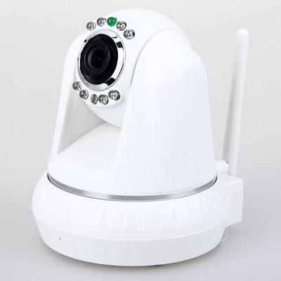 IR - cut WiFi Wireless IP Camera 300,000 Pixel 3.6mm 12 IR LEDs High Resolution Night Vision Function Supported (White)